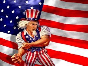 الولايات المتحدة الأمريكية السلطة!